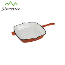 Kitchen Badgets Enamel Die Cast Iron Frying Pan Grill